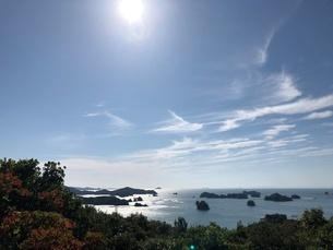 長崎県平戸市生月大橋付近での景色の写真素材 [FYI03402421]