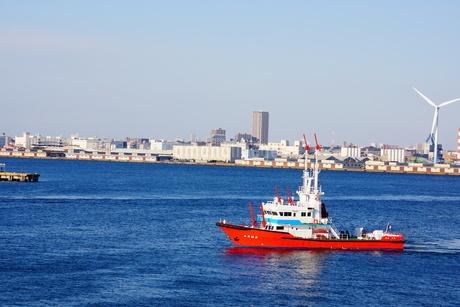 消防船のイメージの写真素材 [FYI03402675]