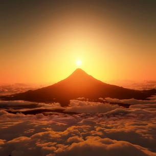 富士山の日の出のイラスト素材 [FYI03402906]