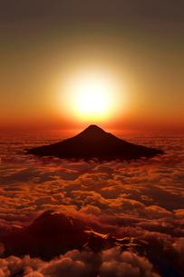 富士山の日の出のイラスト素材 [FYI03402921]