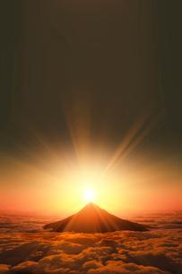 富士山の日の出のイラスト素材 [FYI03402936]