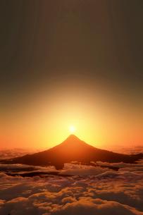 富士山の日の出のイラスト素材 [FYI03402947]