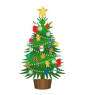 クリスマスツリー イラストの写真素材 [FYI03402962]