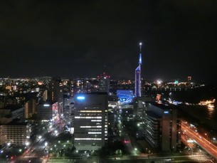 福岡の夜景の写真素材 [FYI03403611]