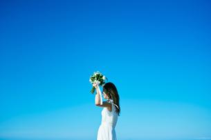 ウェディング 花嫁 ブーケの写真素材 [FYI03403717]