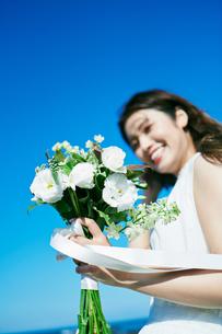 ウェディング 花嫁 ブーケの写真素材 [FYI03403733]