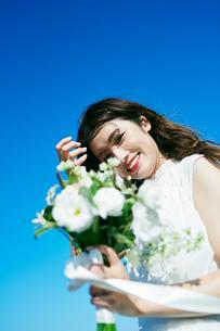 ウェディング 花嫁 ブーケの写真素材 [FYI03403734]