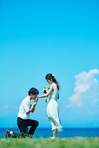 ウェディング カップル プロポーズの写真素材 [FYI03403823]