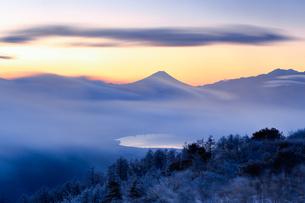 高ボッチ高原から望む富士山の写真素材 [FYI03404080]