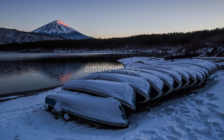 西湖 (富士五湖) 日本 山梨県 富士河口湖町の写真素材 [FYI03404122]