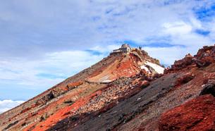 富士山頂 日本 静岡県 小山町の写真素材 [FYI03404162]