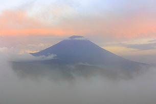 大室山から望む富士山 日本 山梨県 南都留郡の写真素材 [FYI03404174]
