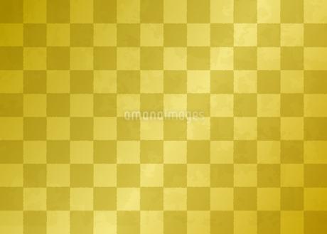 市松模様の金箔素材のイラスト素材 [FYI03404214]
