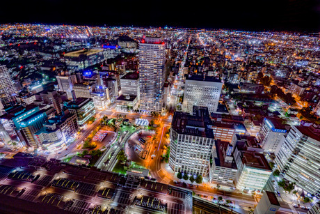 札幌の夜景の写真素材 [FYI03404393]