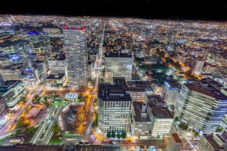 札幌の夜景の写真素材 [FYI03404397]