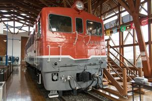 鉄道歴史パークに 展示される DF50型ディーゼル機関車 1号機の写真素材 [FYI03404495]