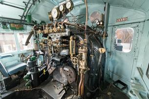 鉄道歴史パークに 展示される 国鉄C57形蒸気機関車 1次型「44号機」 運転席の写真素材 [FYI03404569]