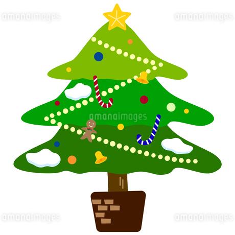 かわいいクリスマスツリーのイラスト素材 [FYI03404697]