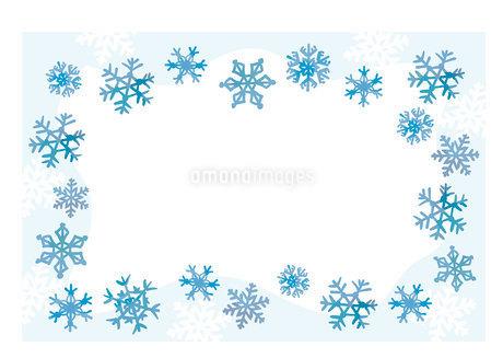 雪の結晶フレームのイラスト素材 [FYI03404873]