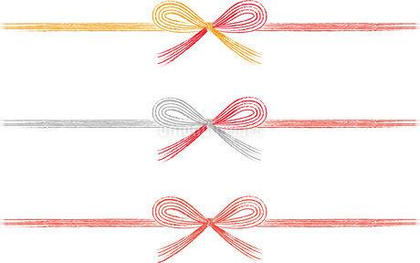 蝶結び 水引 手描きイラストの写真素材 [FYI03404875]