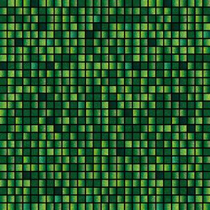 緑色 モザイク 背景のイラスト素材 [FYI03405040]