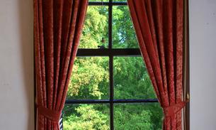 部屋の窓から見える緑の写真素材 [FYI03405152]