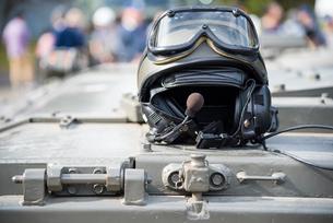 戦車兵のヘルメットの写真素材 [FYI03405412]