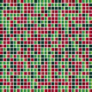 赤 緑 モザイク 背景のイラスト素材 [FYI03405417]