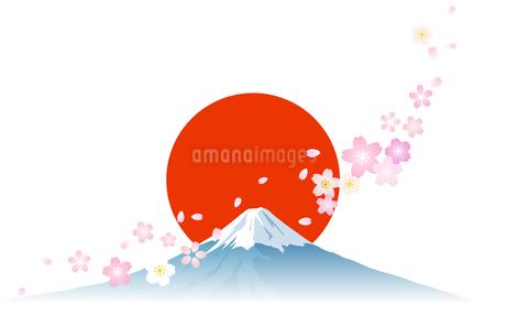 富士山 日の出 桜のイラスト素材 Fyi03405513 ストックフォトの