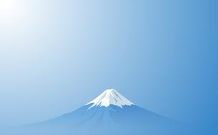 富士山と空のイラスト素材 [FYI03405514]