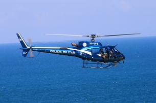 軍警察ヘリの写真素材 [FYI03405667]
