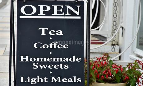 喫茶店のメニュー看板の写真素材 [FYI03405775]