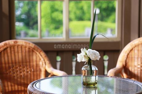 部屋の花飾りの写真素材 [FYI03405784]
