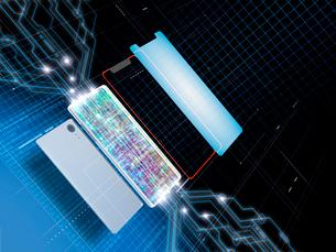 スマホを分解して回路を分析のイラスト素材 [FYI03406078]