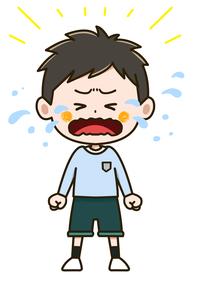 大泣きする男の子 ポーズ イラストのイラスト素材 [FYI03406236]