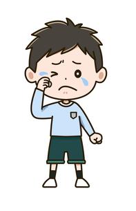 泣く男の子 ポーズ イラストのイラスト素材 [FYI03406237]