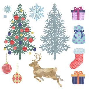クリスマスの素材セットのイラスト素材 [FYI03406306]