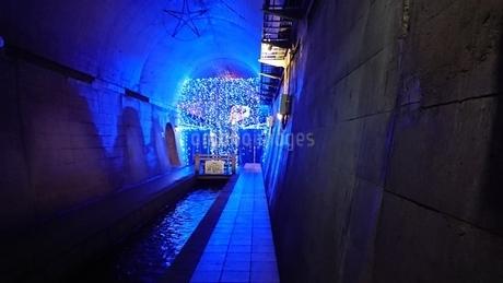 湧水トンネルの写真素材 [FYI03406370]