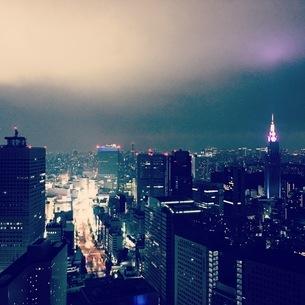 神秘的な夜景の写真素材 [FYI03406541]