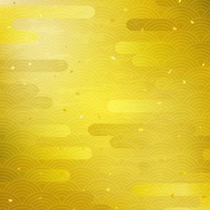 金箔と雲 和の伝統模様のイラスト素材 [FYI03406742]