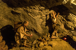 別子銅山 採掘風景 ミニチュア再現の写真素材 [FYI03407286]