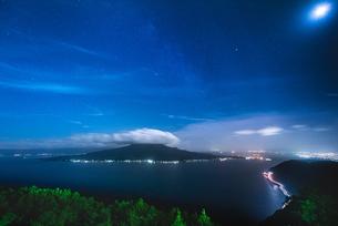 寺山公園展望台からの眺め 日本 鹿児島県 鹿児島市の写真素材 [FYI03407325]