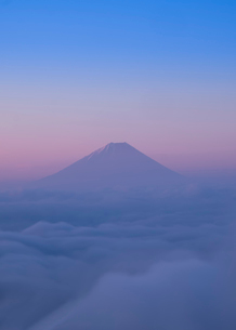 甘利山から望む富士山 日本 山梨県 韮崎市の写真素材 [FYI03407388]