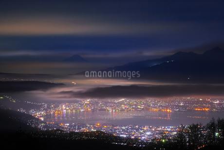 高ボッチ山からの眺め 日本 長野県 岡谷市の写真素材 [FYI03407433]