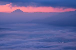 高ボッチ山からの眺めの写真素材 [FYI03407448]