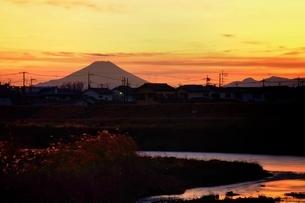 小江戸川越から望む富士山 日本 埼玉県 川越市の写真素材 [FYI03407574]