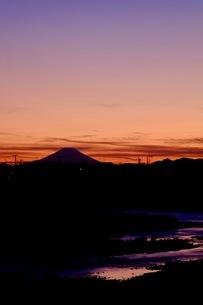 小江戸川越から望む富士山 日本 埼玉県 川越市の写真素材 [FYI03407575]