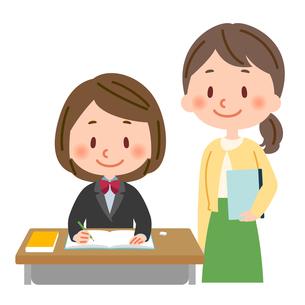 勉強 教師と生徒のイラスト素材 [FYI03407946]