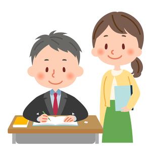 勉強 教師と生徒のイラスト素材 [FYI03407948]