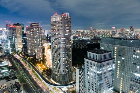 東京の夜景の写真素材 [FYI03408174]